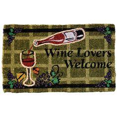 Coir Rope Inlay Wine Lovers Welcome Mat   Overstock.com Shopping - Big Discounts on Door Mats