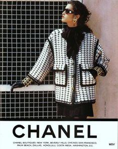 moda Yasmeen Ghauri for Chanel Chanel Fashion, 80s Fashion, Couture Fashion, Vintage Fashion, Fashion Outfits, Womens Fashion, Chanel Chanel, Chanel Bags, Chanel Handbags
