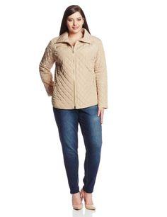 Jessica Simpson Women's Plus-Size Zip Front Quilted Jacket $101.50 #JessicaSimpson