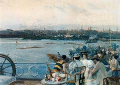 Eliseo Meifren i Roig - Regatas en el puerto de Barcelona