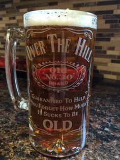 26.5 Oz Custom Etched Beer Mug.. by GraphicsAdventure on Etsy