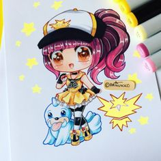 Chibi of me as a Pokemon Trainer (With Seal, cause he's a cutie). I chose team Instinct, which team did you guys pick? Kawaii Chibi, Cute Chibi, Anime Kawaii, Kawaii Art, Anime Chibi, Anime Art, Manga Anime, Cartoon Drawings, Cartoon Art