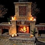 outdoor fireplace designs from Standout-Fireplace-Designs.com  There is nothing like a warm fire on a crisp Autumn night.  Let's sit outside tonight darlin.