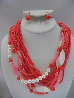 Visit: hipandcoolcliponearringstwo.com and receive up to 30% off. CLIP ON EARRING-MULTI STRAND BEAD SEED NECKLACE SET  $19.99 http://hipandcoolcliponearringstwo.com