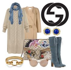 """""""Gucci Bag #2"""" by hastypudding ❤ liked on Polyvore featuring Chloé, Gucci, Linda Farrow, Faliero Sarti, Diane Von Furstenberg, Kendra Scott, Etro, women's clothing, women and female"""
