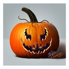 Digital painting #paintablepumpkin carving. Pumpkin Carving, Challenge, Halloween, Digital, Amazing, Painting, Art, Art Background, Painting Art