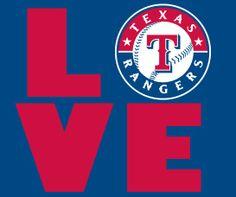 Rangers Baseball Love