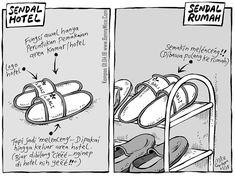 MICE CARTOON - SENDAL - Karya: Muhammad Misrad - Sumber: Kompas Minggu - 01 APRIL 2018 (KLIK gambar untuk memperbesar) Funny Jokes, Cartoon, Humor, Happy, Quotes, Kids, Comic, Meme, Quotations