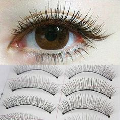 10Pairs Natural Thick Long False Eyelashes Fake Eye Lashes Voluminous Makeup #EyelinerForBeginners How To Draw Eyelashes, Fake Lashes, Longer Eyelashes, Long Lashes, Mink Eyelashes, Eyelashes Makeup, Eyelash Serum, Eyelash Growth, Eyeliner