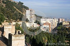 Photo about View from Alcazaba upon Malaga. Picture taken in december Image of aerial, mountains, europe - 65774475 Malaga City, Mount Rushmore, December, Europe, Mountains, Nature, Travel, Naturaleza, Viajes
