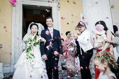 ©Cadreblanc, Photographies de mariage, wedding, sortie d'église, fleurs