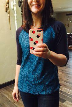 October 2015 stitch fix Bernadette Lace Overlay Raglan Top Market & Spruce  https://www.stitchfix.com/referral/4862451