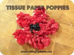 Tissue Paper Poppy Badges & Anzac Day poppy craft made from paper plates | Crafts Kids learning ...