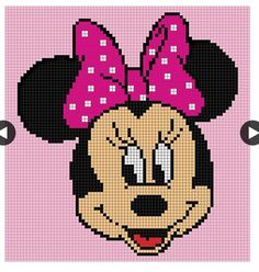 Minnie Mouse Graph Graph Crochet, Crochet Cross, Crochet Blanket, Tapestry C… – The Best Ideas Crochet Pixel, Graph Crochet, Crochet Cross, Crochet Baby, C2c Crochet Blanket, Tapestry Crochet, Crochet Blankets, Knitting Charts, Knitting Patterns