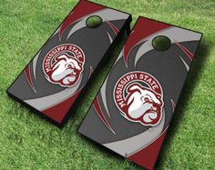 Officially Licensed Mississippi State Bulldogs Swoosh Cornhole Set w/Bags
