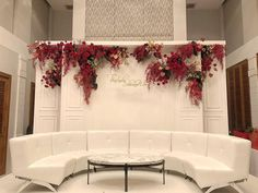 Image may contain: living room, table and indoor Wedding Stage Backdrop, Wedding Backdrop Design, Wedding Stage Design, Simple Wedding Decorations, Floral Backdrop, Backdrop Decorations, Wedding Designs, Backdrops, Burgundy Wedding