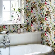 Tips, formulas, plus resource beneficial to acquiring the very best end result and also ensuring the optimum perusal of Bathroom Remodel Blue Monkey Wallpaper, Flamingo Wallpaper, Bold Wallpaper, Metallic Wallpaper, Wallpaper Decor, Wallpaper Toilet, Small Bathroom Wallpaper, Tropical Wallpaper, Beautiful Wallpaper