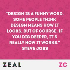 """Design is a funny word. Some people think design means how it looks, but of course, if you dig deeper, it's really how it works."" - Steve Jobs #Quote #Design #Marketing #Apple"