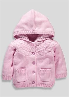 Girls Cable Knit Cardigan (Tiny Baby-18mths)