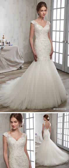 835bbe4db1 Mary s Bridal Style 6581 • A mermaid bridal gown with lace bodice