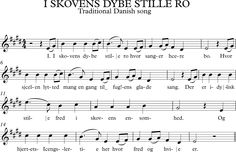 I Skovens Dybe Stille Ro. Canción Tradicional Danesa. Music Therapy, Musical, Sheet Music, Flute, Folklore, World, Music Sheets, Learning, Songs