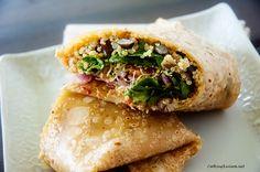 Chipotle Black Bean  Quinoa Wrap - Vegan  Gluten Free