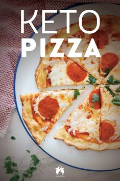 Sometimes we can't believe the keto diet is called a diet, especially when you get your hands on recipes like this Keto Pizza with Pepperoni. #keto #KetoLifestyle #KetoRecipe
