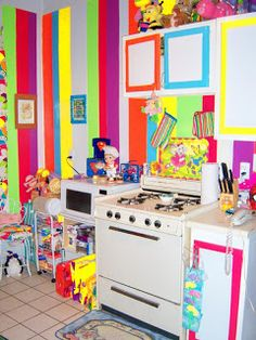 colorful-interior-design2 | rainbow kitchen