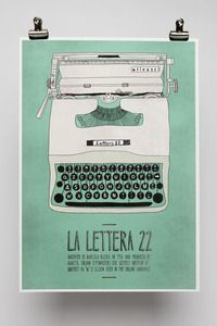 Fun posters of Italian inventions, from Emily Isles (La Lettera 22)