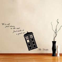 We Are All Stories - Doctor Who Tardis - Wall Decal Vinyl Sticker Just Good Deals http://smile.amazon.com/dp/B00L1V3A3Q/ref=cm_sw_r_pi_dp_VMN3tb0XY61SYDCK