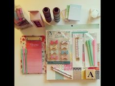 Planner Supplies Haul - March 2015 - YouTube