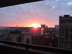 Sunrise in Detroit