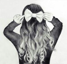 Riesen Schleife im Haar