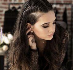 Braids For Long Hair, Long Curly Hair, Curly Hair Styles, Curly Short, Coiffure Hair, Teen Hairstyles, Fashion Hairstyles, Cute Hairstyles With Braids, Simple Braided Hairstyles