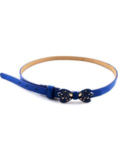 Blue Bead Bow Belt - Sheinside.com