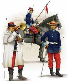 El Nº 2 pertenece al escuadrón de lanceros del cazadores del Rímac.   El Nº 1 es de los Húsares de Junín. El 3 es de la Policia Montada de Tacna. Casi todos sus efectivos cayeron en la batalla del 26 de mayo de 1880.