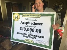 When the winner isn't home, they still get their winnings! Joseph Scherer from Minneapolis, MN is out of town today for his brother's birthday, so the Prize Patrol left his big check for $10,000 with his daughter, Meg! Leave a congratulatory message for Joseph below!