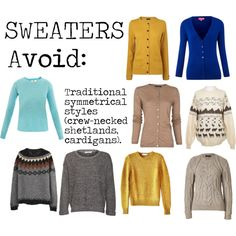 """""""Flamboyant Gamine (FG) Sweaters to avoid"""" by lightspring on Polyvore"""