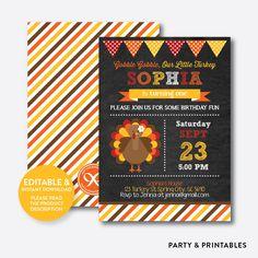 Turkey Girl Chalk... http://partyandprintables.com/products/turkey-girl-chalkboard-kids-birthday-invitation-editable-instant-download-ckb-83?utm_campaign=social_autopilot&utm_source=pin&utm_medium=pin #partyprintables #birthdayinvitation #partysupplies #partydecor #kidsbirthday #babyshower