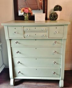 Repurposed Gems: Green Antique Tallboy - Spring Walk by Behr