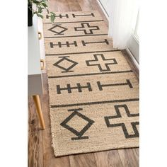 Shop for nuLOOM Handmade Native Drawings Jute Natural Runner Rug (2'6 x 8'). Get free shipping at Overstock.com - Your Online Home Decor Outlet Store! Get 5% in rewards with Club O!