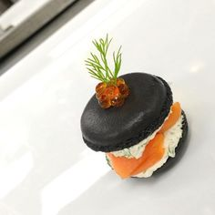 Smoked salmon, squid ink macaron, cream cheese... Check out our page and follow…
