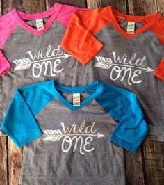 Wild one Raglan the perfect Birthday shirt to be worn all year :)   These do run a size small so please size up 1 size. Available in many colors and
