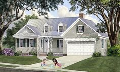 House Plan 86348 | Cape Cod Cottage Country Craftsman Southern Plan with 1997 Sq. Ft., 4 Bedrooms, 4 Bathrooms, 2 Car Ga