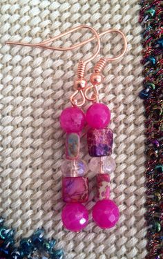 Pink set in copper on Etsy, $25.00