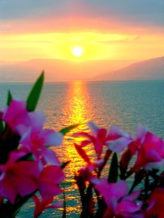 Sunset on the Sea of Galilee, Tiberias, Israel