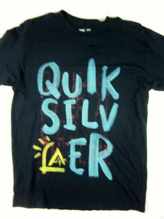 Quiksilver Surf T-shirt short sleeve men's blue size MEDIUM #quiksilver #GraphicTee