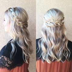 Half up Half down Braid