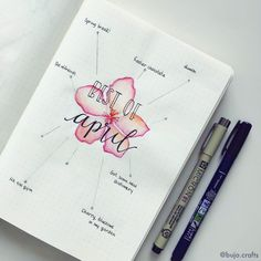 Bullet journal best of the month, flower drawing, hand lettering.   @bujo.crafts