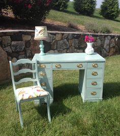 Up-cycled Duck Egg Desk – The Lindee Tree